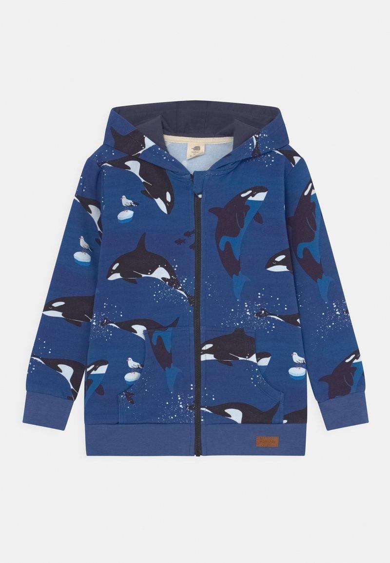 Walkiddy - PLAYFUL ORCAS UNISEX - Zip-up sweatshirt - dark blue
