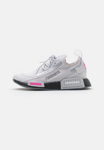 NMD_R1 SPEEDLINES BOOST SHOES - Trainers - grey/core black/screaming pink