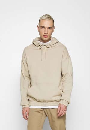 BOTTOM HOODIE  - Sweat à capuche - taupe
