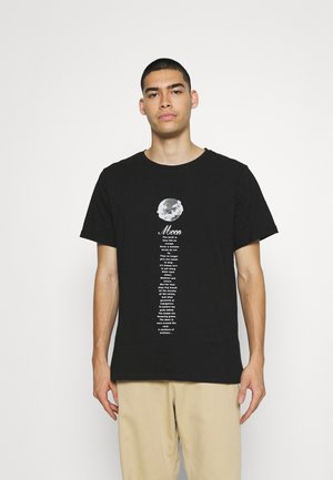 MOON  - Print T-shirt - black