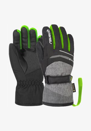 Gloves - blck blck mel neon green