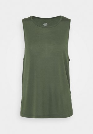DRAPY MUSCLE TANK - Top - northern green