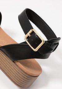 New Look - GENIUS - Sandalias con plataforma - black - 2