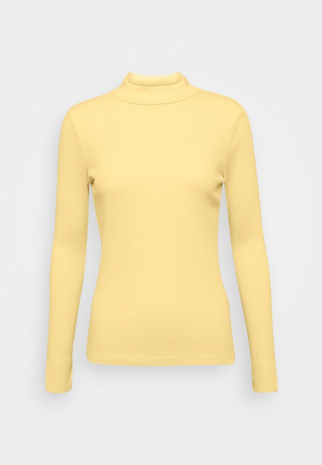 Long sleeved top - pale banana yellow