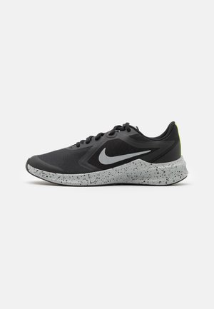 DOWNSHIFTER 10 VIZ UNISEX - Neutral running shoes - black/reflect silver/light smoke grey/volt