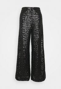 Banana Republic - EWAIST WIDE LEG CLUSTER SEQUIN - Kalhoty - black - 0