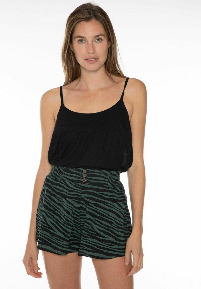 KIKI  - Shorts - black/evergreen