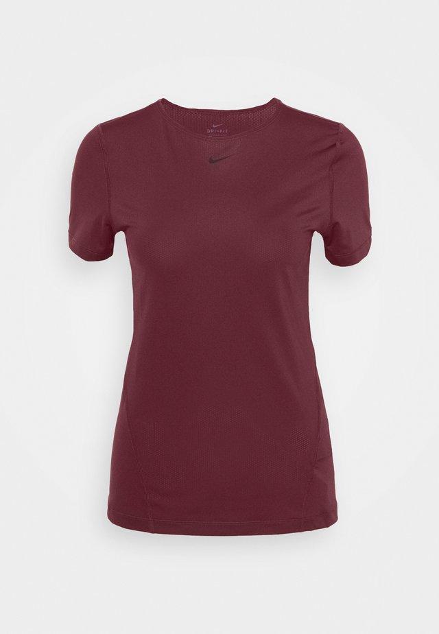 ALL OVER - T-shirt basic - dark beetroot/black