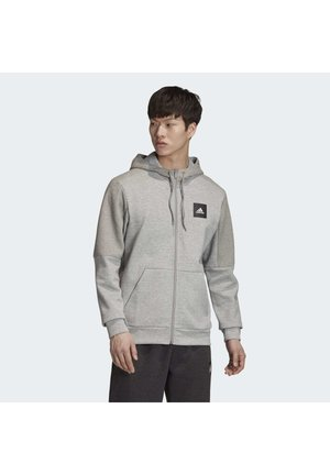 MUST HAVES FULL-ZIP STADIUM HOODIE - Huvtröja med dragkedja - grey