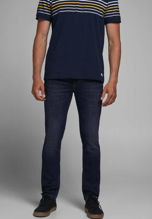 KLASSISCHE - Vaqueros slim fit - dark blue denim