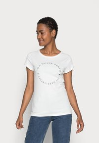 TOM TAILOR DENIM - 2 PACK - Print T-shirt - real navy blue - 1