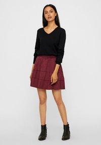 Noisy May - NMLAUREN  - A-line skirt - red - 1