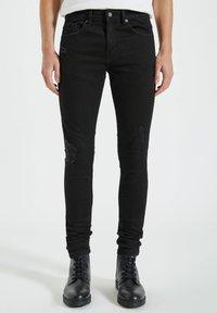 PULL&BEAR - Jeans Skinny Fit - mottled black - 0