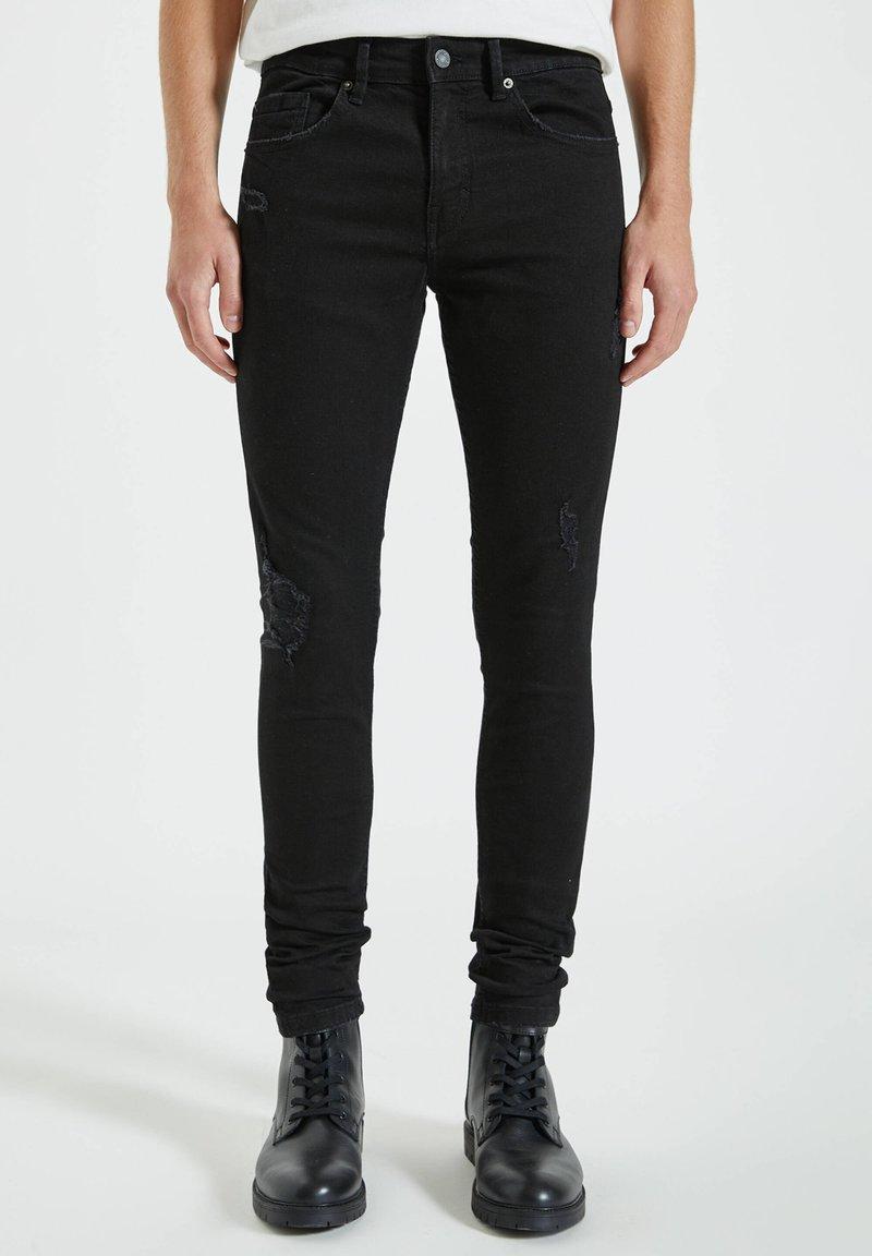PULL&BEAR - Jeans Skinny Fit - mottled black