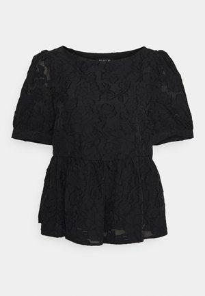 SLFSADIE PEPLUM - Bluser - black