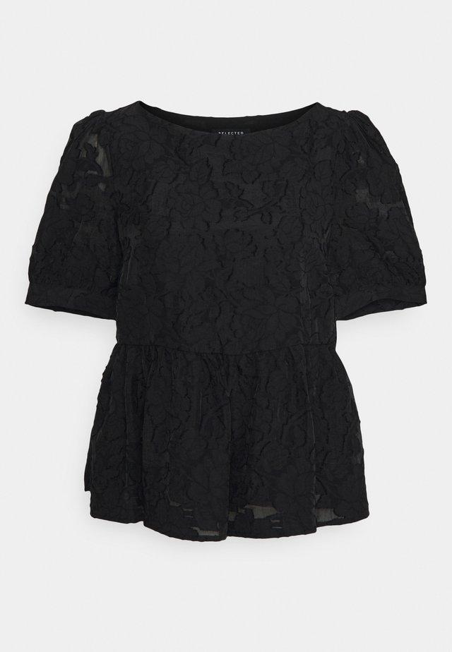 SLFSADIE PEPLUM - Blouse - black