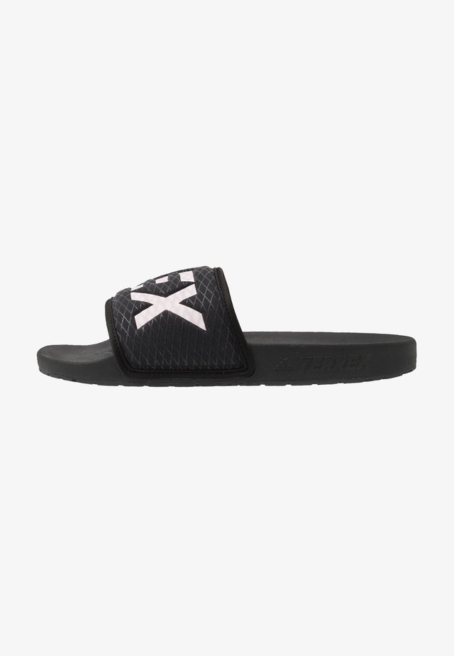 TERREX ADILETTE SLIDES - Badslippers - core black/footwear white