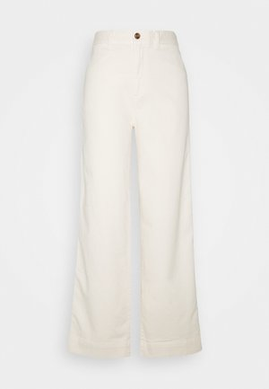 WIDE LEG SOLID - Bukse - ivory frost