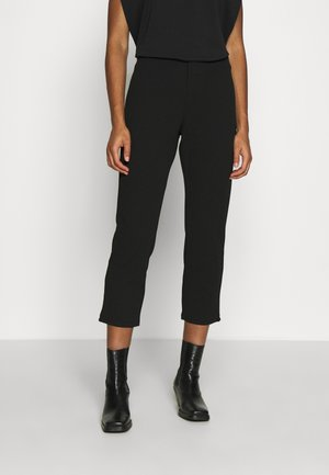 TAPERED CROPPED TROUSERS - Trousers - black