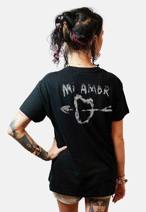 MI AMOR - T-shirt con stampa - black