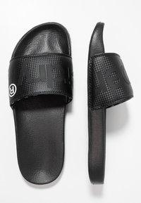 Superdry - POOL SLIDE - Mules - black - 1