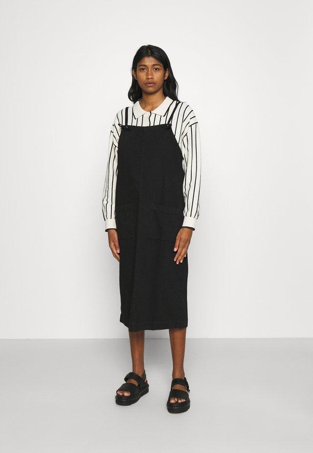 MONICA DRESS - Denimové šaty - black dark