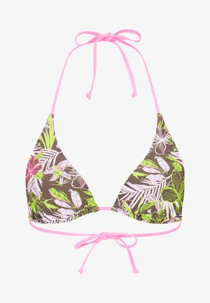 Haut de bikini - khaki rosa hellgrün