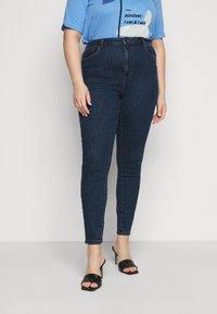 Vero Moda Curve - VMLOA - Skinny džíny - dark blue denim - 0