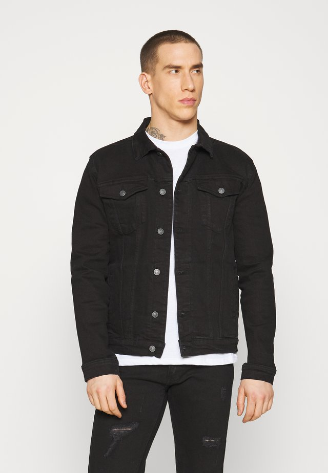 KASH JACKET - Veste en jean - black dot