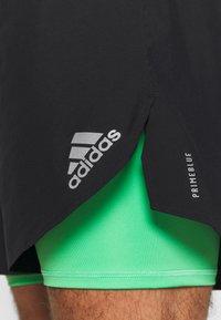 adidas Performance - SHORT - Pantalón corto de deporte - black/semi screaming green - 5