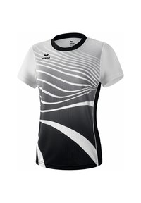 Erima - T-SHIRT DAMEN - Print T-shirt - schwarz / weiß - 2