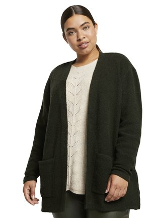 COZY CARDIGAN - Gilet - dark rosin green