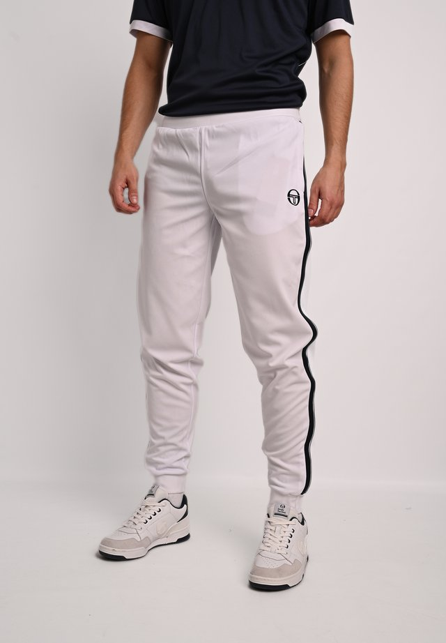 YOUNG LINE - Tracksuit bottoms - wht/nav