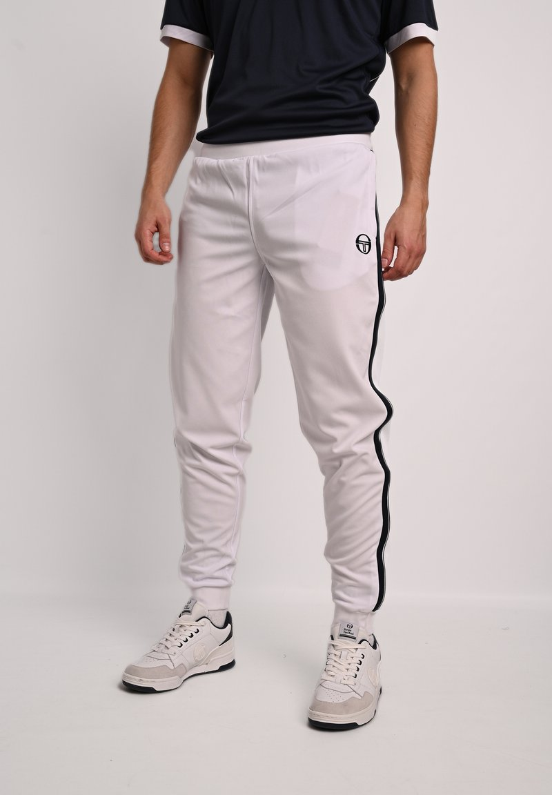 sergio tacchini - YOUNG LINE - Tracksuit bottoms - wht/nav