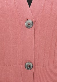 Simply Be - V NECK  - Cardigan - baked pink - 5