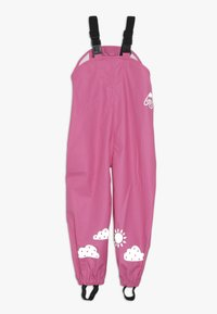 Frugi - PUDDLE BUSTER TROUSERS - Rain trousers - flamingo - 0
