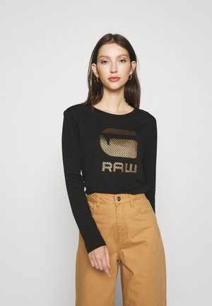 GRAW GR ROUND LONG SLEEVE - Top s dlouhým rukávem - dark black