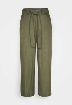 NOUR LINE CROPPED PANTS - Bukse - grape leaf