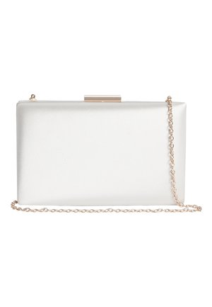 SATIN BOXY CLUTCH BAG - Clutch - off-white