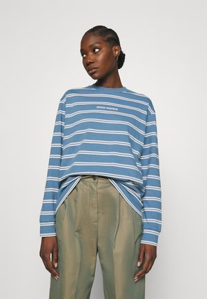 ASTRID STRIPE LONG SLEEVE TEE - Long sleeved top - blue