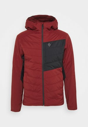FIRST LIGHT STRETCH HOODY - Zimní bunda - dark crimson/black