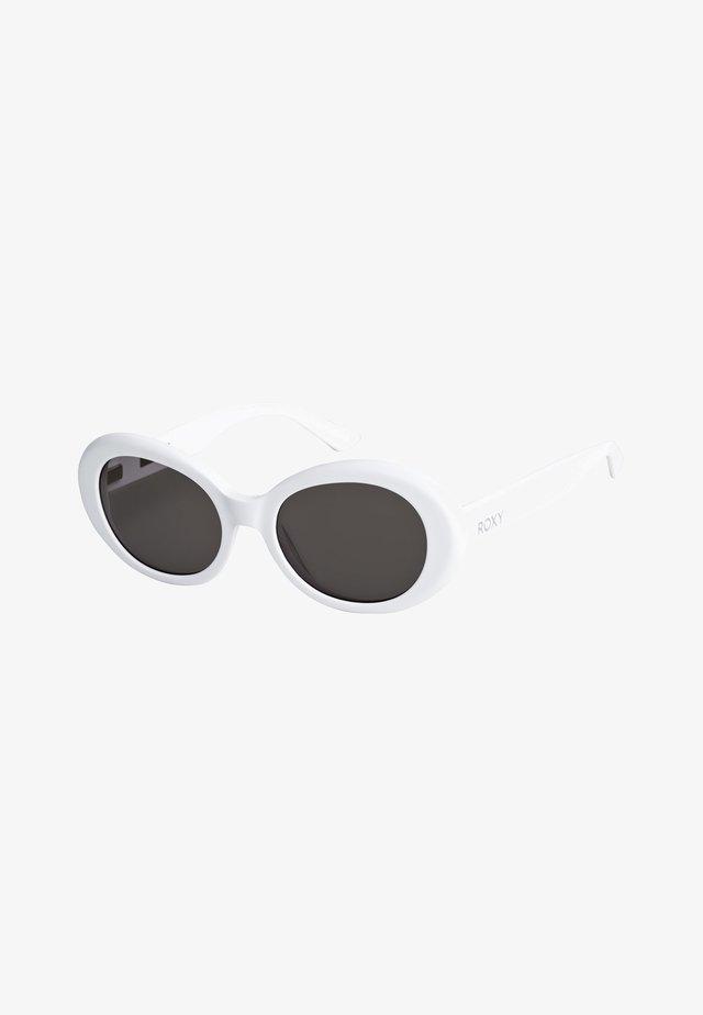 DOME - Zonnebril - shiny white/grey