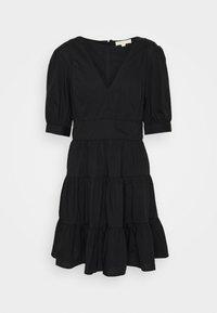 MICHAEL Michael Kors - V NECK PUFF DRESS - Day dress - black - 4