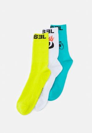 SKM-RAY-THREEPACK 3 PACK - Socks - white/yellow/turquoise