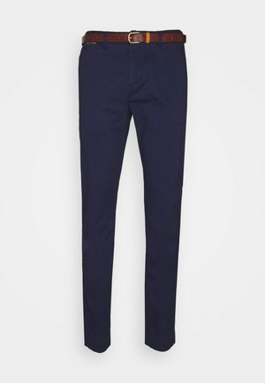 NEW BELTED  - Chinos - navy