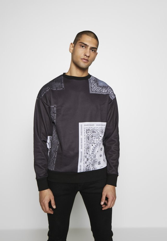 BANDANA BLOCK CREW - Sweatshirt - black
