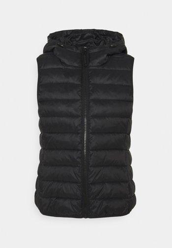 ONLNEWTAHOE HOOD WAISTCOAT - Waistcoat - black