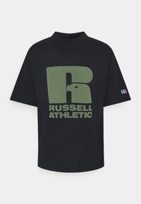 Russell Athletic Eagle R - CODY MODERN CREWNECK TEE UNISEX - Print T-shirt - black - 0