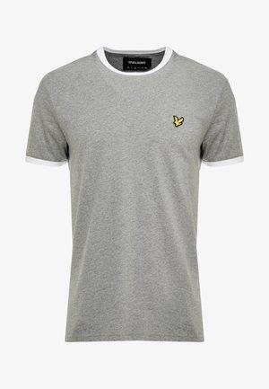 RINGER TEE - T-shirt - bas - mid grey marl/white