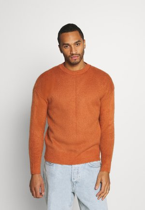 BRUSHED DROP SHOULDER - Jumper - rust